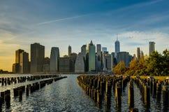 Libertà del World Trade Center di Manhatten di paesaggio urbano dell'orizzonte di New York fotografie stock libere da diritti