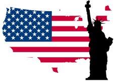Libertà della bandierina degli S.U.A. Immagini Stock