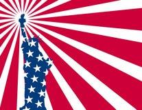 Libertà della bandierina degli S.U.A. Immagini Stock Libere da Diritti