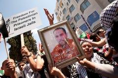Libertà della domanda dei Palestinesi per i prigionieri Fotografia Stock Libera da Diritti