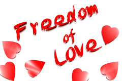 Libertà di amore Immagini Stock