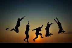 Libertà di felicità di mattina Immagini Stock Libere da Diritti