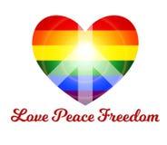 Libertà di pace di amore Fotografia Stock