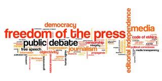 Libertà di stampa illustrazione di stock