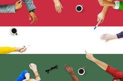 Libertà Liberty Concept di governo della bandiera nazionale dell'Ungheria Immagini Stock