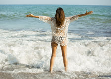 Libertà nella spiaggia Fotografia Stock