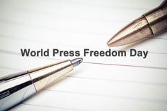 Liberté de la presse photographie stock
