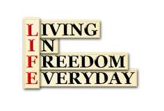 Liberté de la vie Image stock
