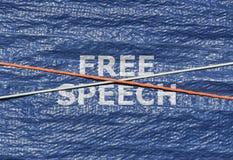 Liberté de parole des textes Images libres de droits