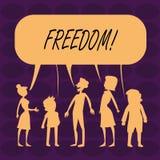 Liberté des textes d'écriture Signification de concept sortant pendant des vacances, étudiants ayant la liberté pour aller tour d illustration de vecteur