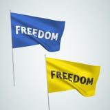 Liberté - drapeaux de vecteur Photo stock