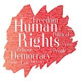 Liberté politique de droits de l'homme de vecteur Photographie stock libre de droits