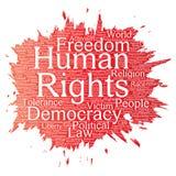 Liberté politique de droits de l'homme de vecteur Photo stock