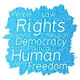 Liberté politique de droits de l'homme de vecteur, démocratie Images libres de droits