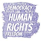 Liberté politique de droits de l'homme de vecteur, démocratie Photo stock