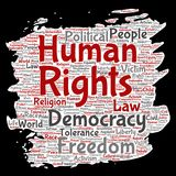 Liberté politique de droits de l'homme de vecteur, démocratie Photographie stock libre de droits