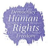 Liberté politique de droits de l'homme de vecteur, démocratie Image stock