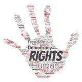 Liberté politique de droits de l'homme de vecteur, démocratie Image libre de droits