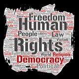 Liberté politique de droits de l'homme de vecteur, démocratie Images stock