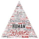 Liberté politique de droits de l'homme de vecteur, démocratie Photos libres de droits