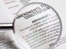 Liberté religieuse dans la constitution du Uni Image stock