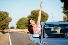 Liberté de trajet en voiture Image stock