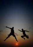 Libertà di felicità di mattina Fotografia Stock Libera da Diritti