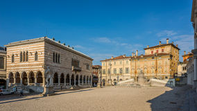 Liberta place with Loggia del Lionello in Udine Royalty Free Stock Images