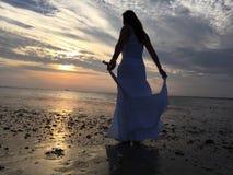 Libertad天空海滩 免版税图库摄影