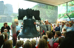 Libertad Bell, Philadelphia, Pennsylvania Imagenes de archivo