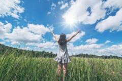 Libertad con la naturaleza Foto de archivo