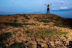 Libertad del cielo azul de la tierra seca Imagen de archivo libre de regalías