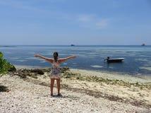 Libertad en las islas de Maldivas Fotos de archivo libres de regalías