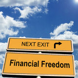 Libertad financiera Fotografía de archivo libre de regalías