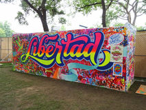 Libertad (Freedom) Mural at the Festival Royalty Free Stock Images