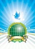Libertad y ambiente global stock de ilustración