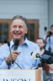 Libertarian presidential candidate Gary Johnson speaks in Concord, New Hampshire, on August 25, 2016. Royalty Free Stock Images