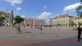 Libertatii piata Timisoara сток-видео