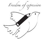 Liberte3. A dove illustrating the concept of freedom of expression Royalty Free Stock Photography