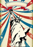 Liberty. A grunge poster with the statue of liberty Stock Photo