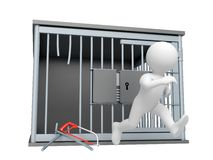 Liberty!. Prisoner run out from prison Stock Photography