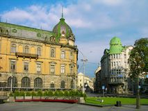 Liberty avenue - central street of Lviv, Ukraine Royalty Free Stock Photography