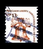 Liberty Bell, Americana Emisyjny seria około 1975, fotografia stock