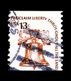 Liberty Bell, Americanafrage serie, circa 1975 Stockfotografie
