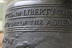 Liberty Bell. In the details royalty free stock photography