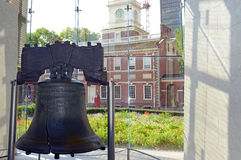 Liberty Bell em Philadelphfia, Pensilvânia Fotografia de Stock
