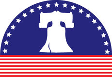 Liberty Bell Flag Royalty Free Stock Image