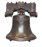 Liberty Bell isolated Stock Image