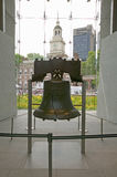 Liberty Bell, at Liberty Bell Center, in front of Independence Hall in historic area of Philadelphia, Pennsylvania Stock Photo