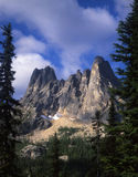 Liberty Bell Mountain. Horizontal image of Liberty Bell Mountain located in Washington Pass in Washington State royalty free stock image